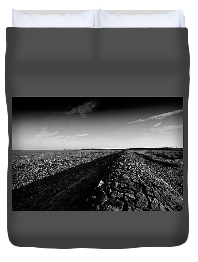 Architecture Duvet Cover featuring the photograph Breakwater by Keith Elliott