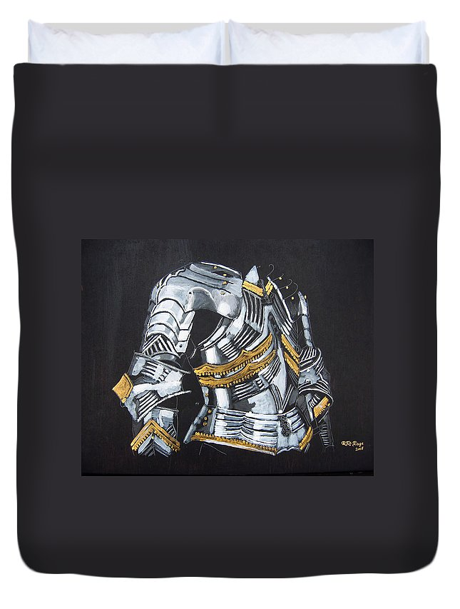 Breast Plate Duvet Cover featuring the painting Breast Plate by Richard Le Page