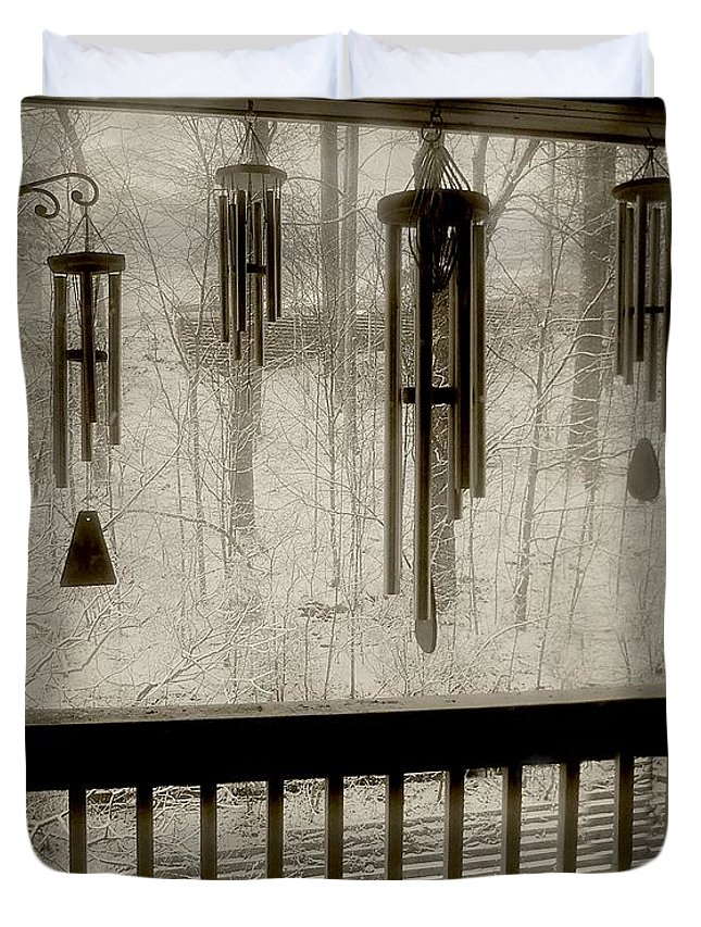 Balcony Duvet Cover featuring the photograph Breathe Deep The Gathering Gloom by RC DeWinter