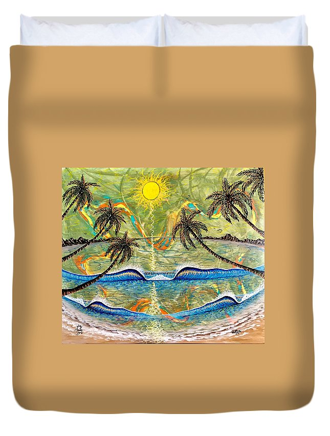 Breathe Duvet Cover featuring the painting Breathe In Clarity by Paul Carter