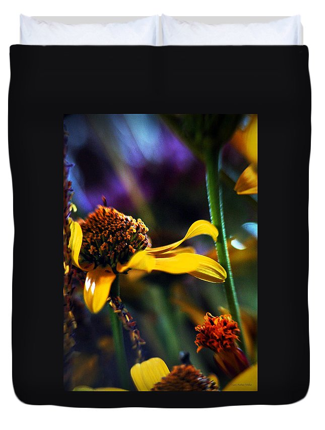 Flowers Duvet Cover featuring the photograph Breeze... by Arthur Miller