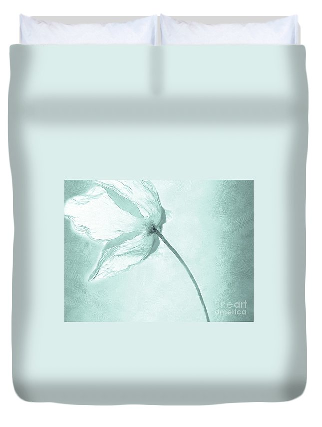 Flower Duvet Cover featuring the painting Breeze by Jacky Gerritsen