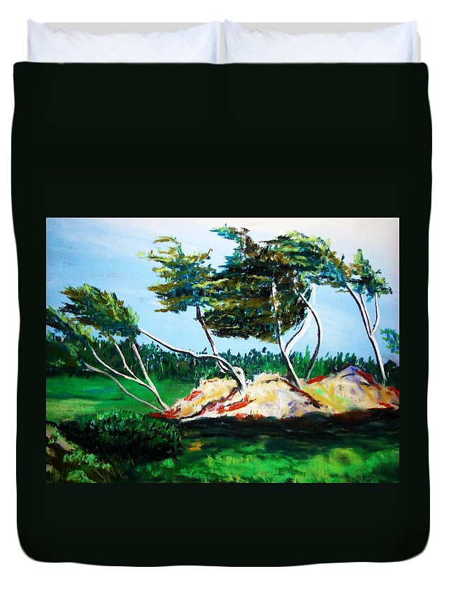 California Duvet Cover featuring the painting Breezy by Melinda Etzold
