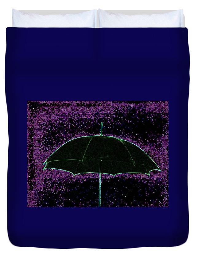 Umbrella Duvet Cover featuring the photograph Brella by Tim Allen