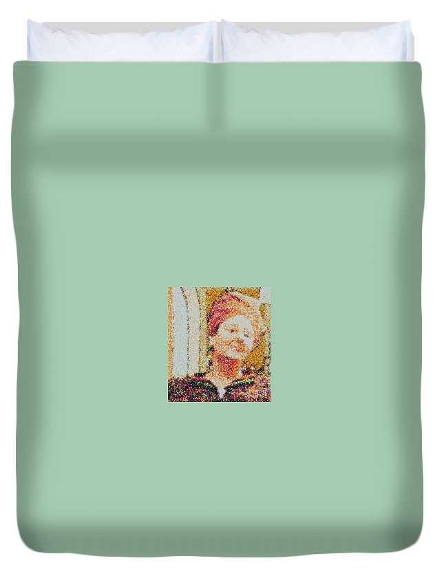 Women Duvet Cover featuring the digital art Brenda by Angelina Marino