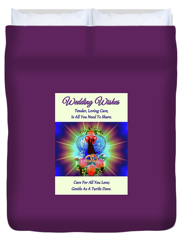 Art Duvet Cover featuring the digital art Brian Exton Peace Light And Love Bigstock 164301632 12779828 by Mitchell Watrous