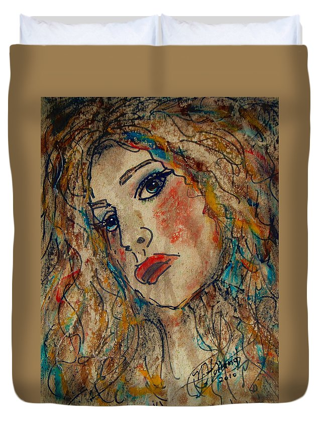Expressionism Duvet Cover featuring the painting Briana by Natalie Holland