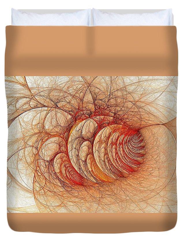 Duvet Cover featuring the digital art Briar Patch Again-3 by Doug Morgan