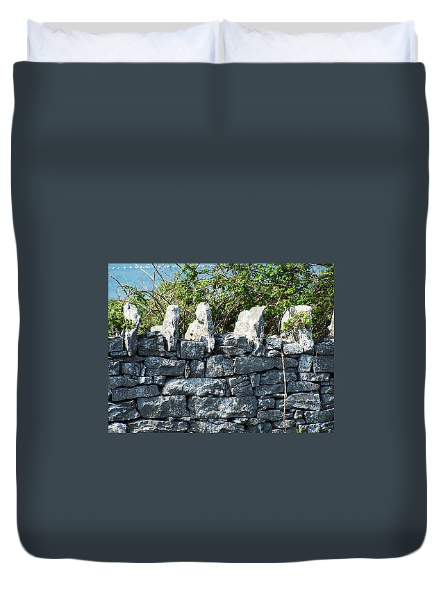 Irish Duvet Cover featuring the photograph Briars And Stones New Quay Ireland County Clare by Teresa Mucha