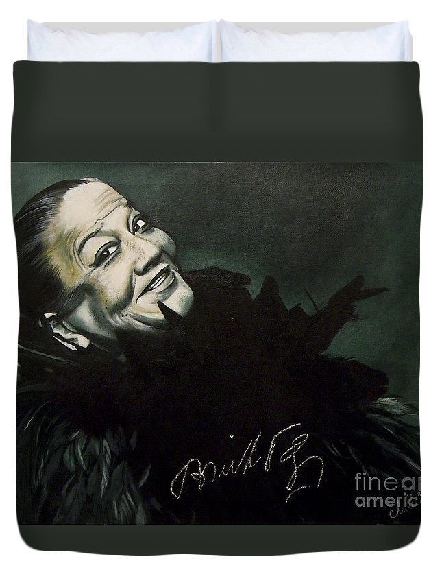 Painting Duvet Cover featuring the painting Bricktop Ada Smith by Chelle Brantley