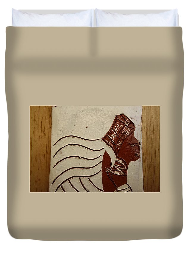 Jesus Duvet Cover featuring the ceramic art Bride 10 - Tile by Gloria Ssali