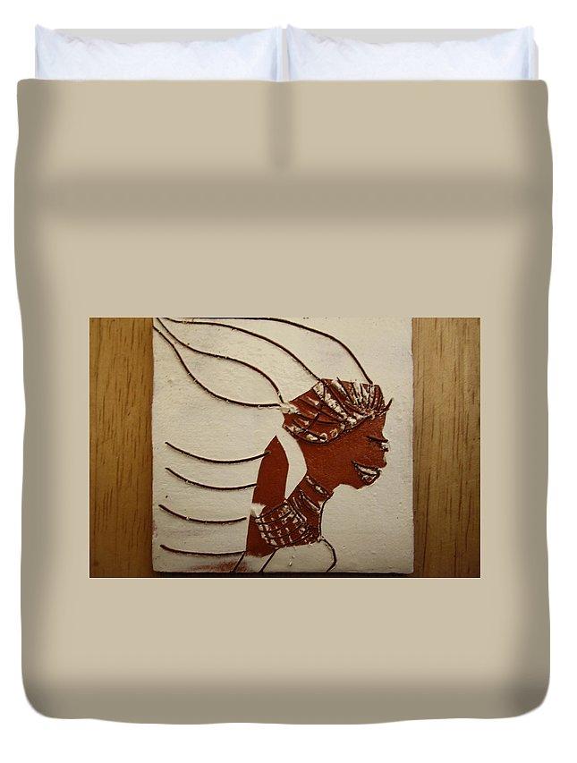 Jesus Duvet Cover featuring the ceramic art Bride 12 - Tile by Gloria Ssali