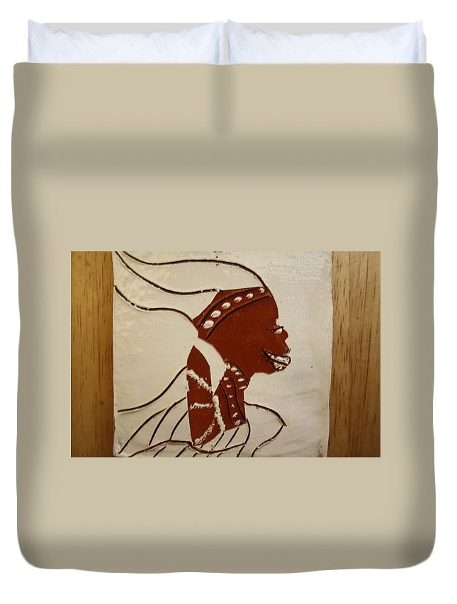 Jesus Duvet Cover featuring the ceramic art Bride 2 - Tile by Gloria Ssali