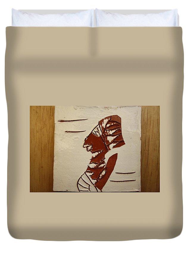 Jesus Duvet Cover featuring the ceramic art Bride 5 - Tile by Gloria Ssali