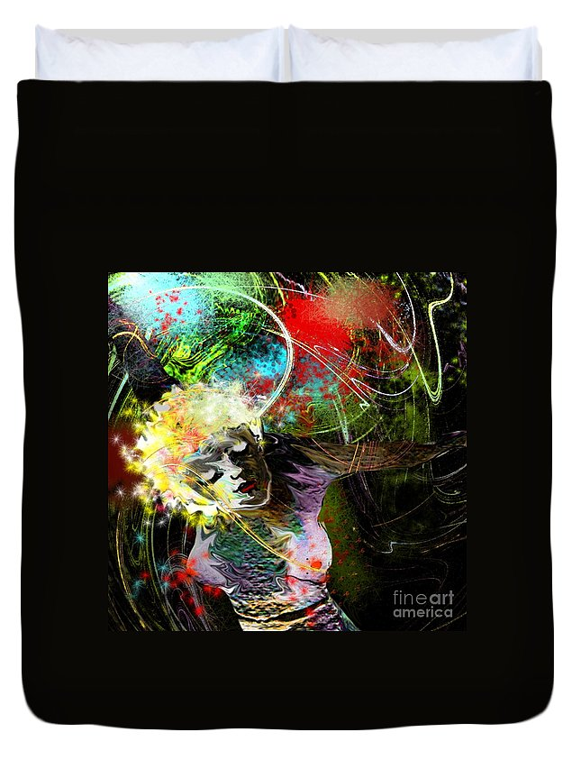 Fantasy Duvet Cover featuring the painting Bride Of Halos by Miki De Goodaboom