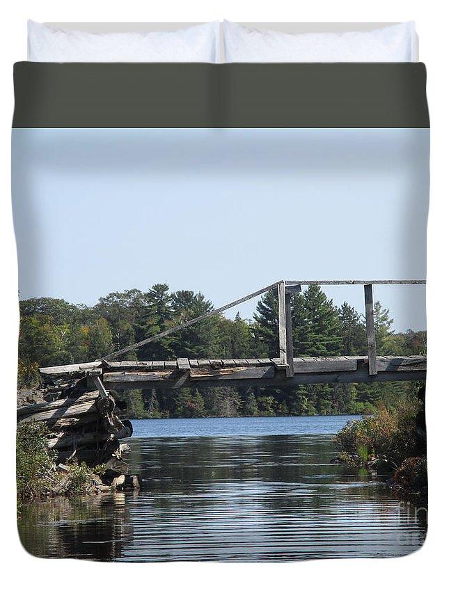 Bridge Duvet Cover featuring the photograph Bridge At Chub by Victoria C Clarke