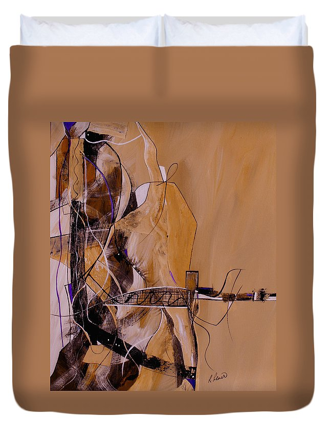 ruth Palmer Duvet Cover featuring the painting Bridge Over Troubled Water by Ruth Palmer