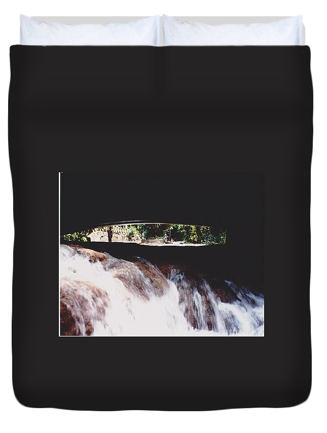 Water Duvet Cover featuring the photograph Bridge Over Water by Michelle Powell