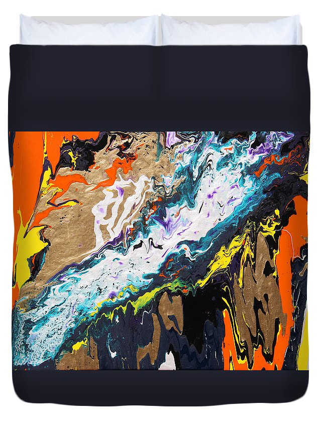 Fusionart Duvet Cover featuring the painting Bridge by Ralph White