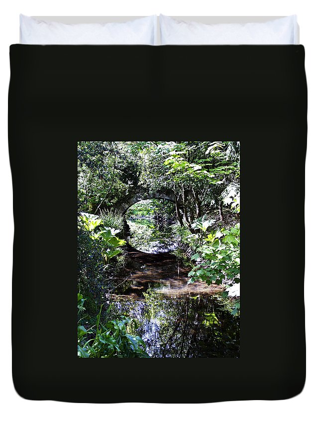Irish Duvet Cover featuring the photograph Bridge Reflection At Blarney Caste Ireland by Teresa Mucha