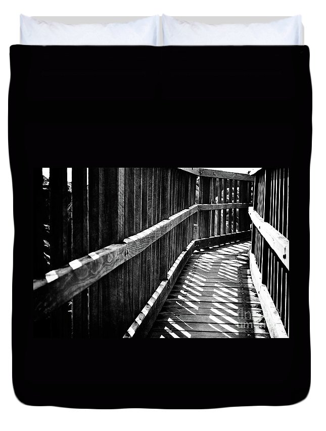 Black Duvet Cover featuring the photograph Bridge To Everywhere by Phill Petrovic