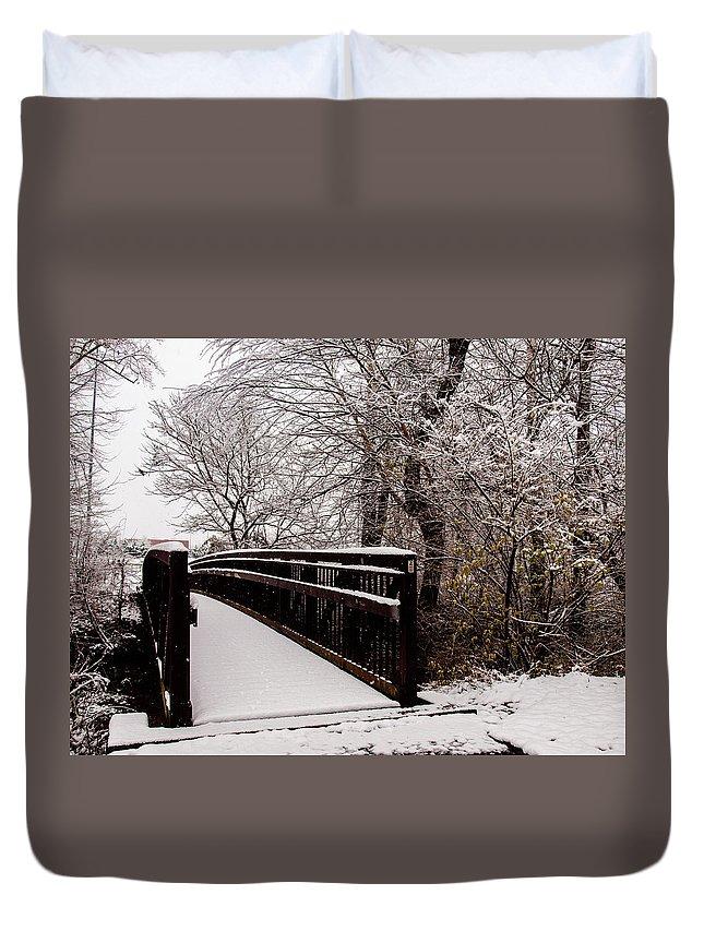 Bridge Duvet Cover featuring the photograph Bridge To Grandma's House by Randy Sylvia