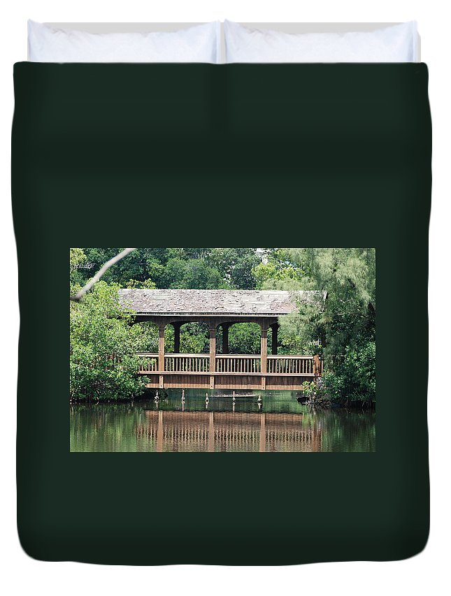 Architecture Duvet Cover featuring the photograph Bridges Of Miami Dade County by Rob Hans