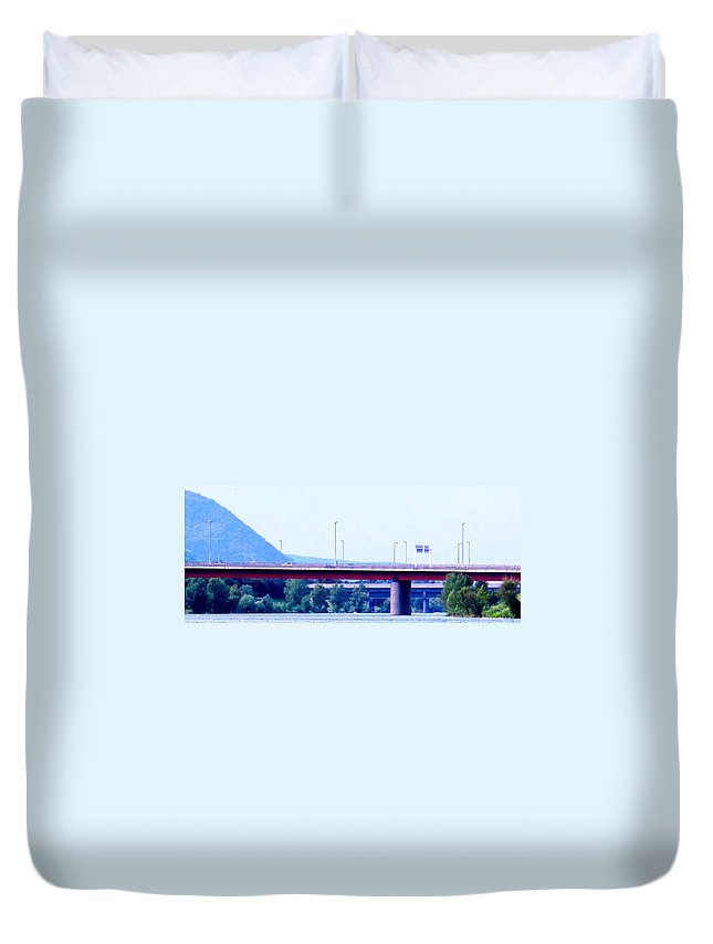 Vienna Duvet Cover featuring the photograph Bridges To The Vienna Woods by Ian MacDonald