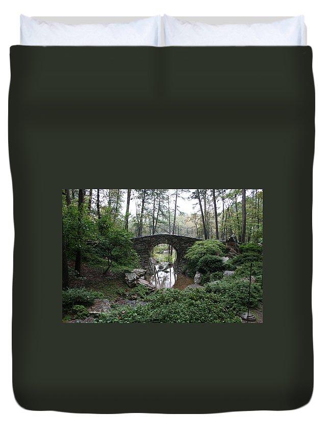 Landscape Duvet Cover featuring the photograph Bridging The Gap by Lynn Michelle