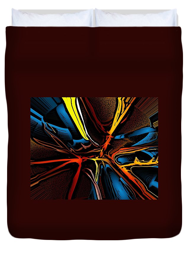 Abstract Duvet Cover featuring the digital art Bright Abstract 072810 by David Lane
