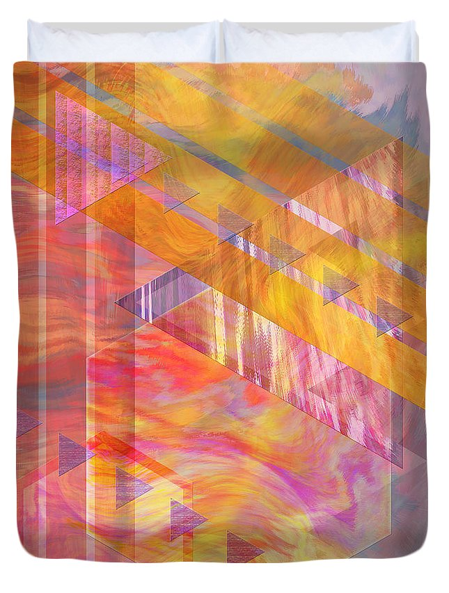 Affordable Art Duvet Cover featuring the digital art Bright Dawn by John Beck