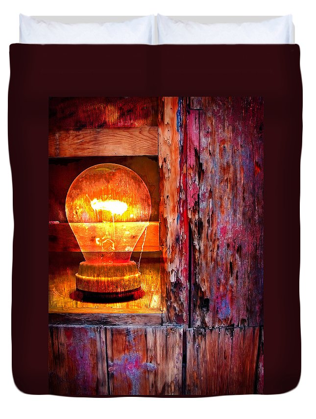 Skip Duvet Cover featuring the photograph Bright Idea by Skip Hunt