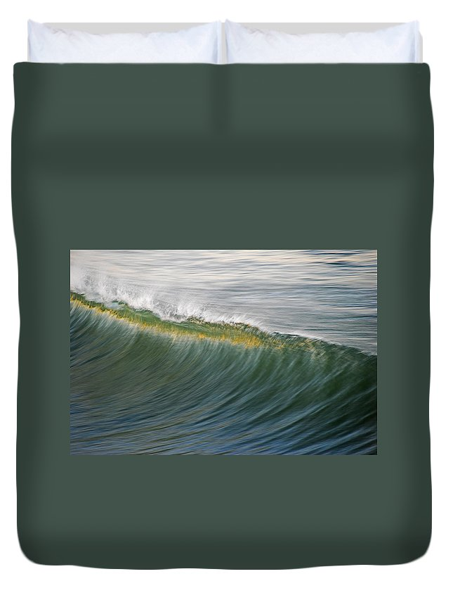 Wave Duvet Cover featuring the photograph Bright Wave by Kelly Wade
