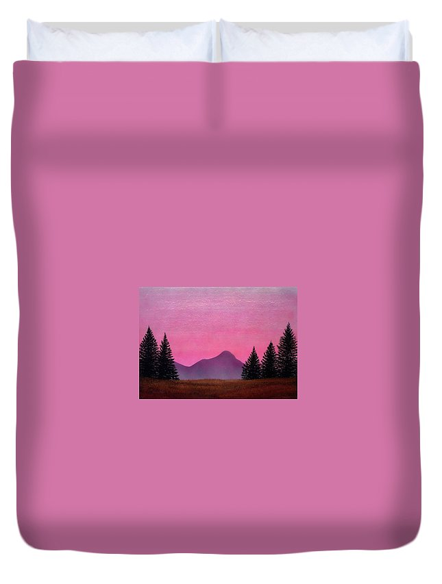 Landscape Duvet Cover featuring the painting Brightness by Frank Wilson