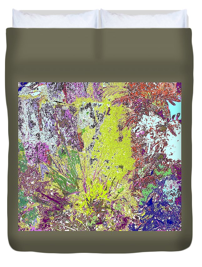 Abstract Duvet Cover featuring the photograph Brimstone Fantasy by Ian MacDonald