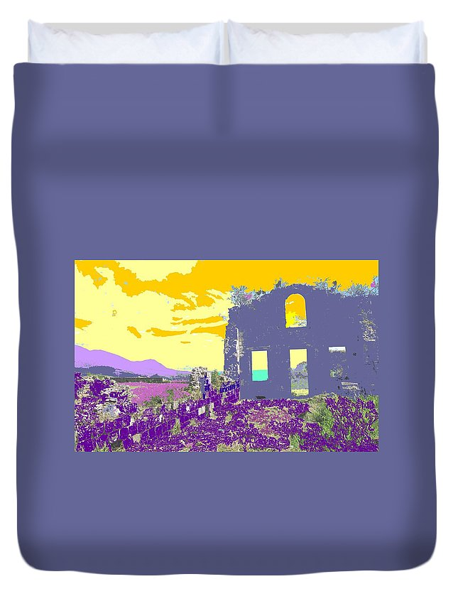 Brimstone Duvet Cover featuring the photograph Brimstone Sunset by Ian MacDonald
