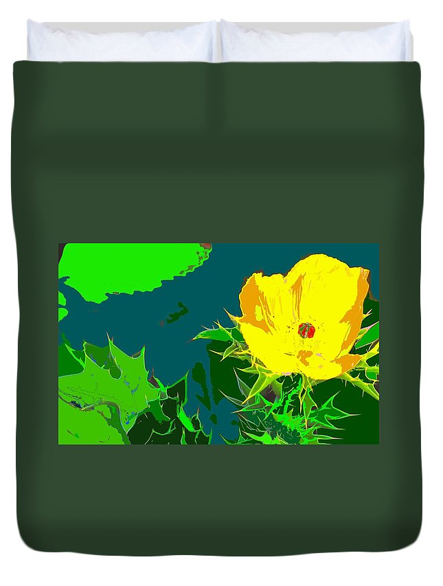 Duvet Cover featuring the photograph Brimstone Yellow by Ian MacDonald
