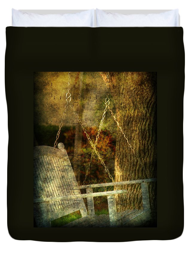Swing Duvet Cover featuring the photograph Bring Back All The Memories by Susanne Van Hulst