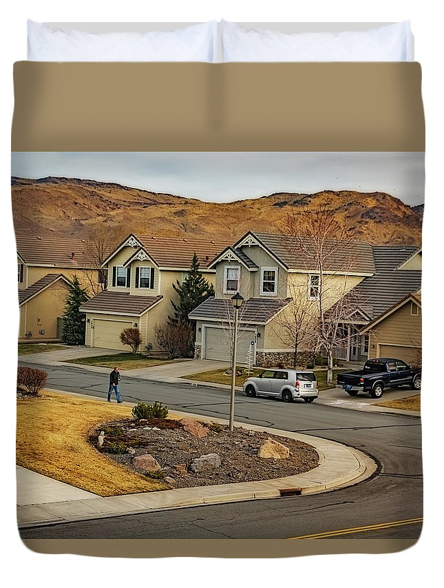 Duvet Cover featuring the photograph Bringing Home The Mail by Nancy Marie Ricketts