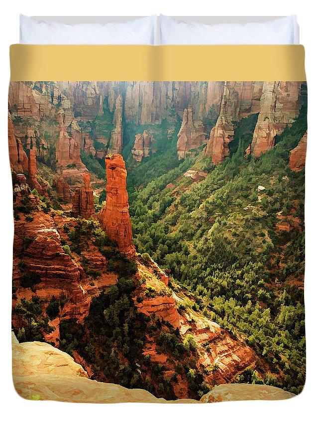 Arizona Duvet Cover featuring the photograph Brins Mesa 07-143 by Scott McAllister