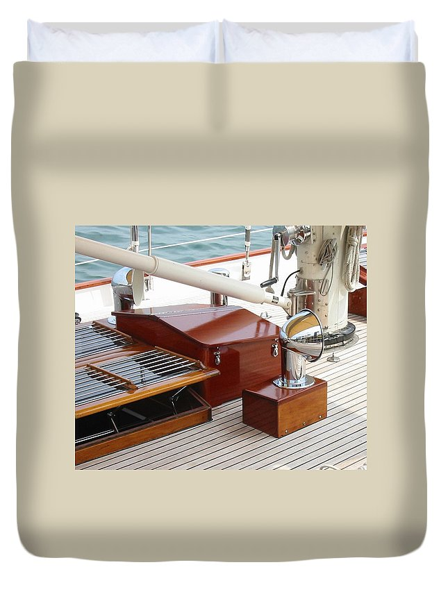 Sailboat Duvet Cover featuring the photograph Bristol Fashion by Lin Grosvenor