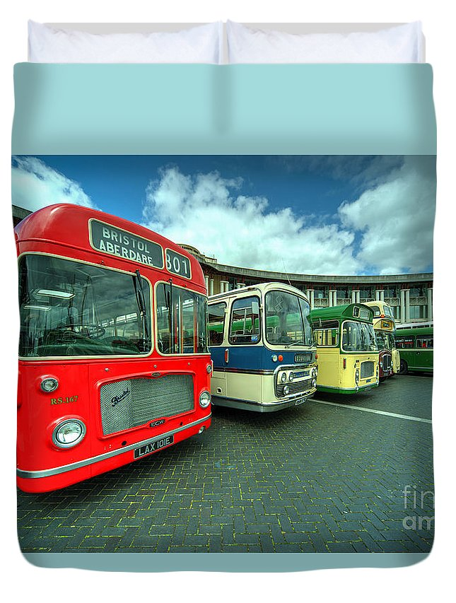 Bristol Duvet Cover featuring the photograph Bristol Line Up by Rob Hawkins