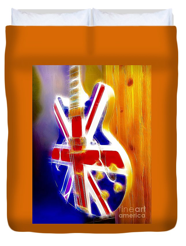 Electric Duvet Cover featuring the digital art Brit Vibe by Sue M Marshall