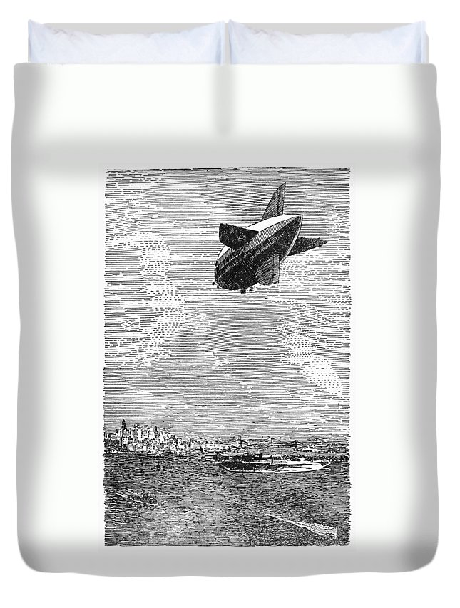 1919 Duvet Cover featuring the photograph British Airship, 1919 by Granger