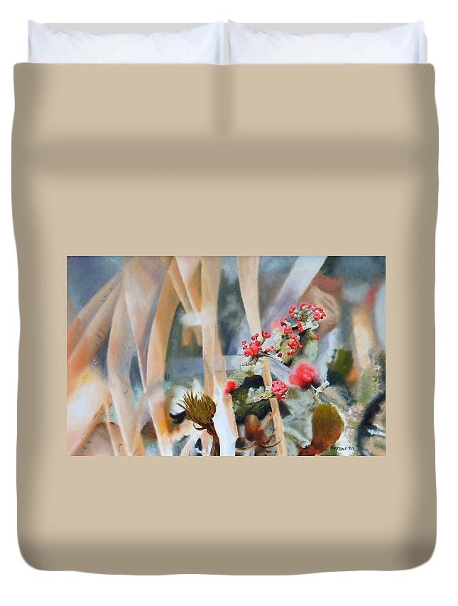Nature Duvet Cover featuring the painting British Soldiers by Dave Martsolf
