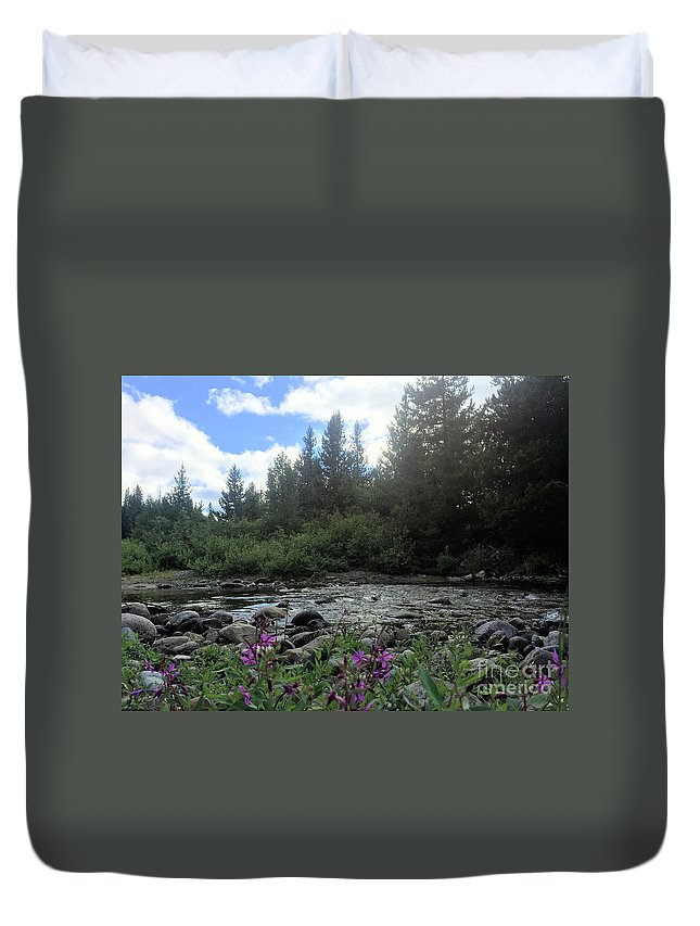 Britton Creek Duvet Cover featuring the photograph Somewhere Over The Mountains 2 by Victor K