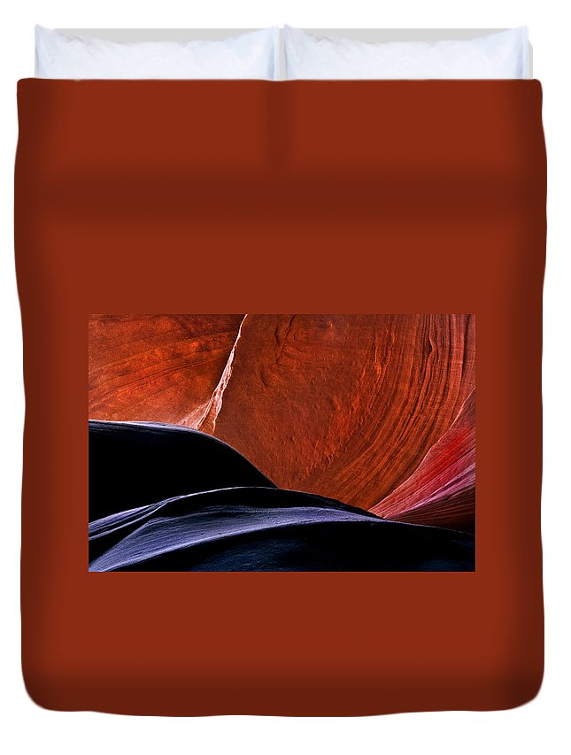 Sandstone Duvet Cover featuring the photograph Broken Dial by Mike Dawson
