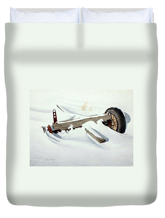 Winter Duvet Cover featuring the painting Broken Dreams by Conrad Mieschke