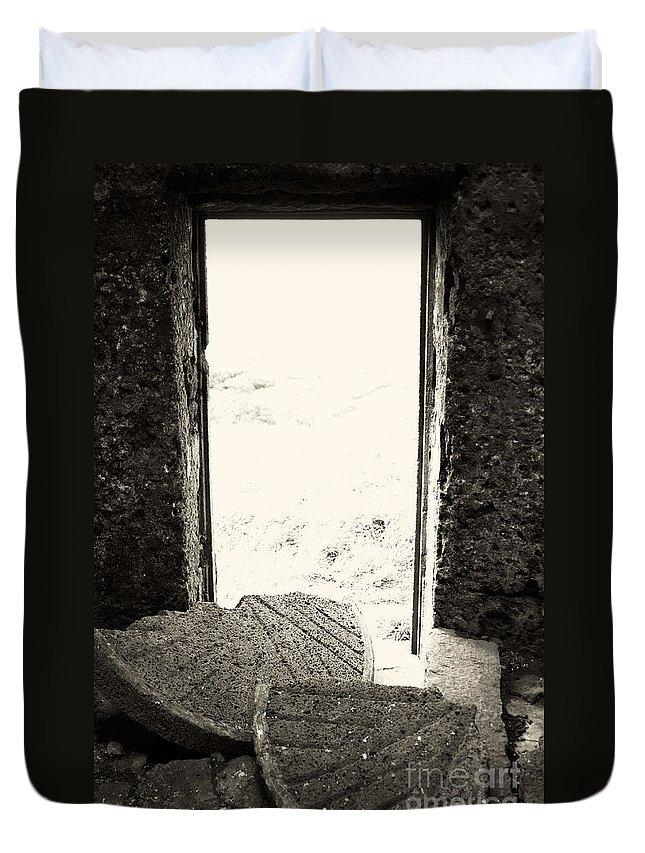 Azores Duvet Cover featuring the photograph Broken Millstone by Gaspar Avila