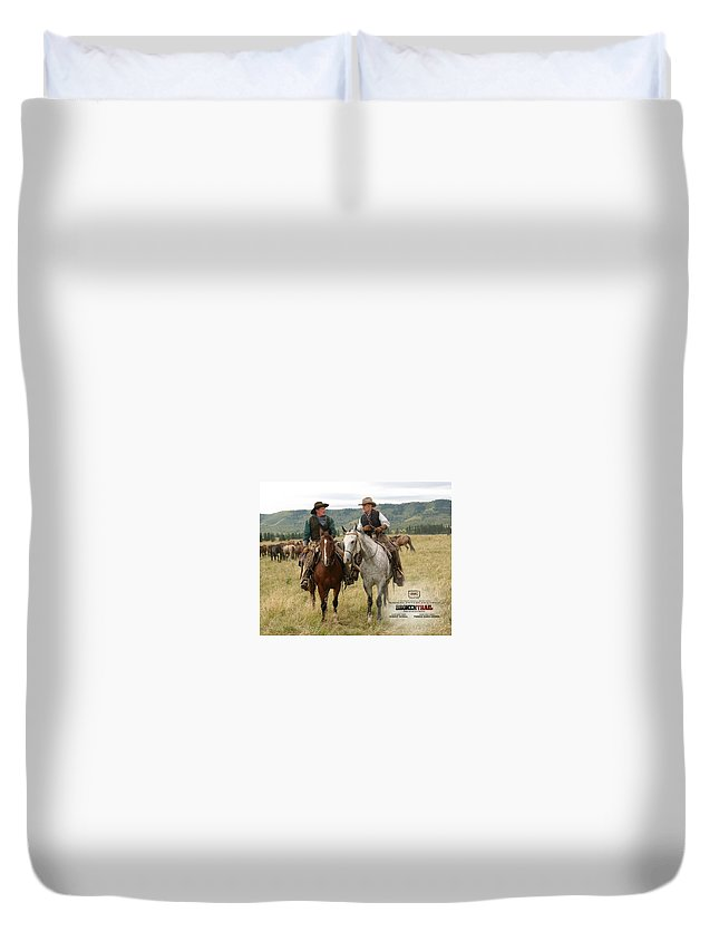 Broken Trail Duvet Cover featuring the digital art Broken Trail by Dorothy Binder